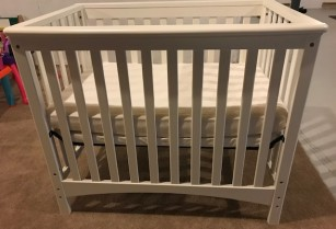 Baby Bed with 2 Mattresses